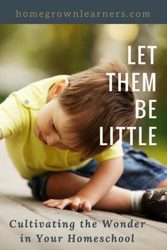 Let them Be Little: Cultivating the Wonder in Your Homeschool