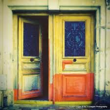 1950's doors to the garden. clear- etched on. -Sicily