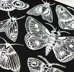 white pen on black paper (artistic tiles) alisaburke: a peek inside my sketchbook
