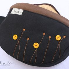Black and Brown Fanny Pack for women and girls  It is a cool and youthful looking fanny pack, made from strong canvas material. It is very practical for occasions where you need both of your hands such as festivals, running, biking or hiking. Also ideal for babywearing.  It has a main zip pocket and a smaller inner zip pocket. The size of the pack is approximately 30x20cm. It doesn't have a buckle so it is comfortable and highly adjustable. You can self-tie it with the canvas belt (140cm). Book Protector, Bible Covers, Bum Bag, Babywearing, Canvas Material, Biking, Fanny Pack, Festivals, Black And Brown