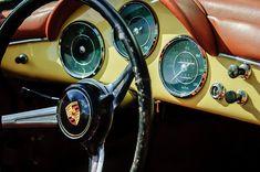 orsche 1600 Super Convertible Steering Wheel Emblem - Car Images by Jill Reger