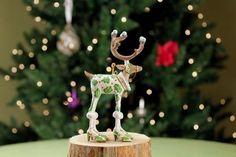 Patience Brewster Mini Dashaway Vixen Reindeer Ornament Christmas Holiday Tree Ornament