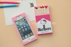 Marlboro Matchbox 3d Silicone Gel Hello Kitty Iphone Case For iphone 6 Plus