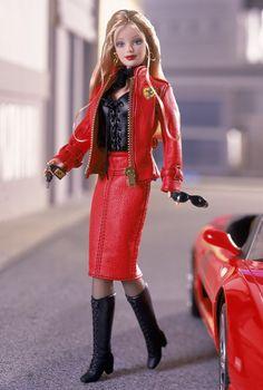 Ferrari Barbie Doll - leather