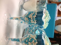 Cupcakes for baby boy christening dessert table TheLastBiteNY