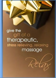 Massage gift cards for christmas