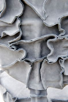 Cobbled, thick, uneven and random. Detail of 'New Skin' by Studio Pepe Heykoop.