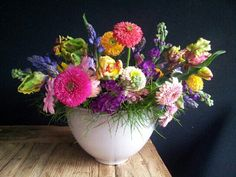 Multi colour flowers  made with love.....
