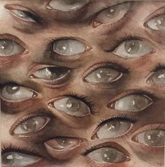 Uploaded by Find images and videos about art, aesthetic and eyes on We Heart It - the app to get lost in what you love. Images Terrifiantes, Creepy Images, Arte Horror, Psychedelic Art, Aesthetic Art, Dark Art, Oeuvre D'art, Art Inspo, Art Reference