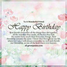To A Wonderful Friend Happy Birthday