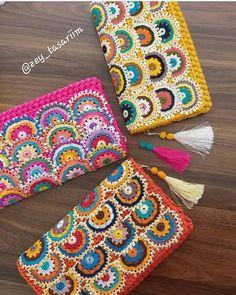 Crochet Coin Purse, Crochet Purse Patterns, Crochet Keychain, Bag Patterns To Sew, Crochet Purses, Sewing Patterns Free, Free Sewing, Knitting Patterns, Handmade Handbags