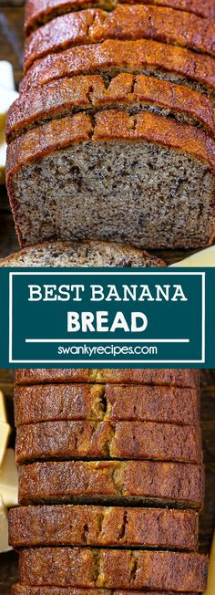 Best Banana Bread - A supremely moist banana bread recipe with a classic sweet banana flavor and moist crumb. An easy sweet bread recipe made with ripe bananas, sugar, flour, butter, and eggs. Classic dessert bread I dessert recipes I banana bread