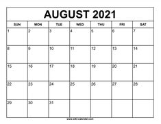 Wiki Calendar August 2021 August Calendar, 2021 Calendar, Free Printables, Templates, Stencils, Free Printable, Vorlage, Models
