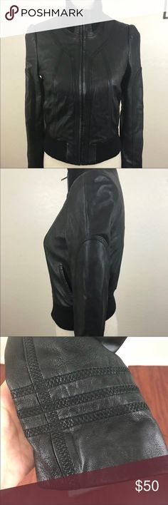 Nordstrom Leather Bomber Jacket High quality, excellent condition Nordstrom Jackets & Coats