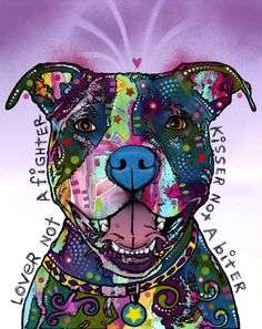 "This is amazing.   Friends, check out DEAN RUSSO's new ""Lover Not A Fighter."" Exclusively for and only available at THE UNEXPECTED PIT BULL. www.theunexpectedpitbull.com. As always, 100% of the net proceeds will be donated to pit bull charities."