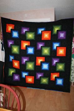 This is a sewn quilt....but not bad for a crochet afghan idea....Hmmmmmm