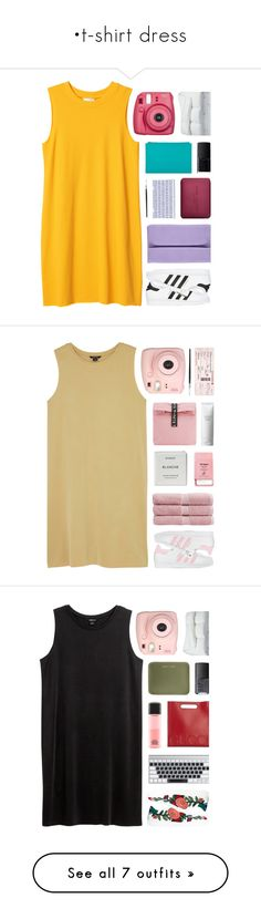 """•t-shirt dress"" by sewing-girl ❤ liked on Polyvore featuring Monki, Whistles, NARS Cosmetics, adidas Originals, Marc Jacobs, Boohoo, Fujifilm, Frette, adidas and Mini Cream"