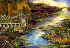 House by a Lily Pond - Pressed Flower Art - Shelley Xie