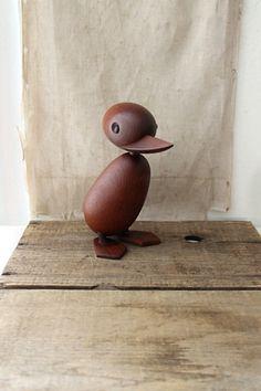 v i n t a g e Danish Hans Bolling for Torben Orskov teak duck, mid century teak duck on Etsy, $135.00