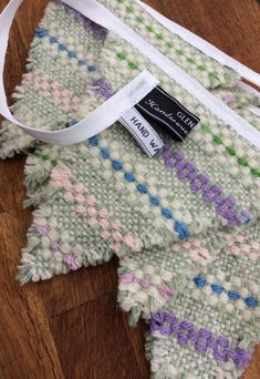 Pastel coloured bunting...