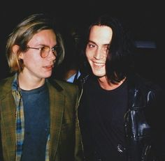 So...it's not a red carpet.  They aren't (weren't) red carpet sort of people.  But, still legit, intangible stars.  River Pheonix and Johnny Depp.