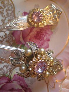 Vintage Jeweled Silverware