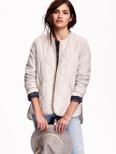 Quilted Zip-Front Jacket Product Image