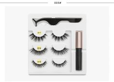 5 Magnet Eyelash Magnetic Liquid Eyeliner& Magnetic False Eyelashes & Tweezer Set Waterproof Long Lasting Eyelash Extension-in False Eyelashes from Beauty & Health on Aliexpress.com | Alibaba Group Eyelash Kit, Magnetic Lashes, Beauty Essentials, False Eyelashes, Aliexpress, Eyelash Extensions, Beautiful Eyes, 30, Eyeliner