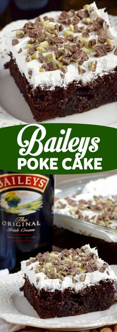 This Baileys Poke Cake is deliciously rich and totally AMAZING! You MUST make it… This Baileys Poke Cake is deliciously rich and totally AMAZING! Cupcakes, Cupcake Cakes, Sweets Cake, Cake Icing, Buttercream Frosting, Poke Cake Recipes, Dessert Recipes, Poke Recipe, Just Desserts