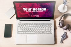 Laptop PSD Mockup, Workspace @creativework247