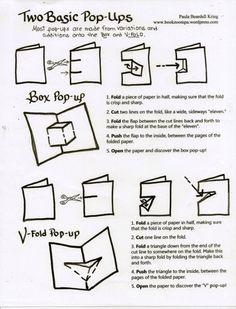 Paula Beardell Krieg - Instructie voor het maken van een eenvoudige pop-up kaart.