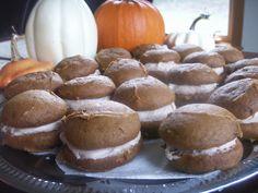 Pumpkin Whoopie Pies with Cinnamon Cream Cheese Filling - The Alchemist