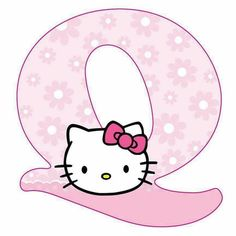 Alphabet Letters Design, Alphabet Templates, Hello Kitty Pictures, Kitty Images, Hello Kitty Imagenes, Hello Kitty Art, Little Boy Blue, Certificate Design, Hello Kitty Wallpaper