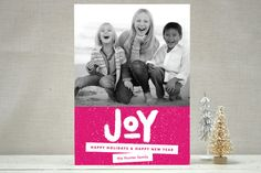 Standout Joy Holiday Photo Cards by Snow and Ivy | Minted  @Katie Hanlon