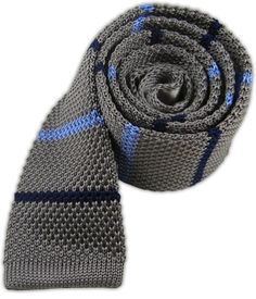 Knit Alt Stripe - Metallic Gray | Ties, Bow Ties, and Pocket Squares | The Tie Bar