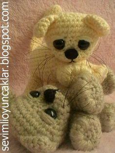 'Baby Cat', crochet pattern from Etsy.  kitten, amigurumi, toys,