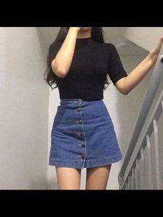 In this collection you will find lots of outfits ispiration and korean fashion highlights. From grungy to lolita, to everyday wear to the most famous korean brands! Feel free to take a look and enjoy! Asian Fashion, Look Fashion, Fashion Outfits, Womens Fashion, Fashion Trends, Fashion 2017, Fashion Black, Trendy Fashion, Fashion Ideas