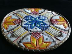 Natural light on my mi'kmaq quill art. Made by Ingrid Brooks. Indian Island, NB.