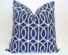 PillowGateworkBlue18x18 inchDecorator Pillow by ElemenOPillows, $20.00