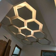 Easy And Cheap Useful Ideas: False Ceiling Entrance Curtains round false ceiling bedroom.False Ceiling Ideas Lights false ceiling section detail.False Ceiling Design For Bedroom. Modern Room, Showroom Design, Pop Design, Curtains Living Room, Wood Ceilings, Lamp Decor, False Ceiling Design, Ceiling Design, Modern Ceiling