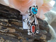 Ladies Large Native American Sterling Silver by periwinkleantiques, $125.00
