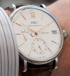 IWC Portofino. #Repin by https://www.kensington-bespoke.uk - Bringing the #chic and #style of #Kensington High Street direct to your home.