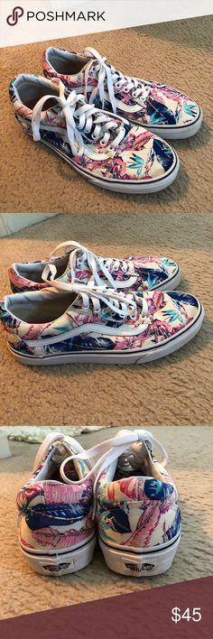 3a1fab242b7493 Tropical print vans Worn twice. Size 10. Price is firm Vans Shoes Sneakers  Vans