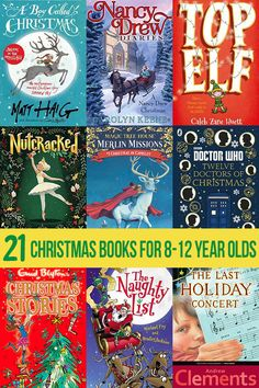 21 awesome Christmas chapter books for tweens (ages 8 to 12 years). Includes mysteries, short stories, non-fiction and even a Christmas horror thriller! Christmas Books For Kids, Twelve Days Of Christmas, Christmas Activities, Christmas Pictures, Book Activities, Christmas Fun, Christmas Worksheets, Xmas, Christmas Planning