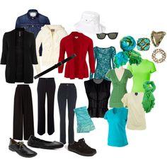 Travel Wardrobe -- Blacks, created by joy-weese-moll