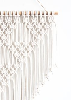 Macrame Wall Hanging TRIANGLES 100% Cotton Cord in by JoJansenCo
