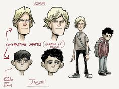 Early Character Sketches for Bully Comic.