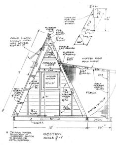 Are A-frame Cabin Kits Worth it? Tiny House Blog, Tiny House Swoon, Tiny House Cabin, Boat House, House Floor, A Frame Cabin, A Frame House, Getaway Cabins, Tiny Cabins