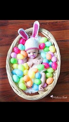 The baby will be only a couple of weeks old for Easter! The picture ideas are endless! Another adorable baby's Easter pictures! Newborn Pictures, Baby Pictures, Baby Photos, Newborn Pics, Easter Pictures For Babies, Wedding Pictures, Baby Kind, Baby Love, Baby Kalender