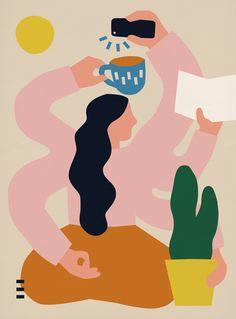Anna Kövecses - Portfolio - Editorial illustration for NEON magazine.